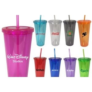 20 Oz. Colored Double Wall Acrylic Tumbler